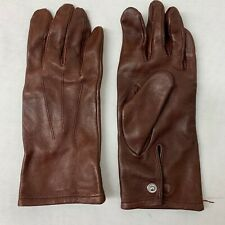 RAF & ARMY BROWN LEATHER OFFICERS MEN'S DRESS GLOVES - Size: 6.5 , British Issue