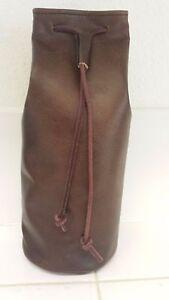Medieval Handmade Leather Pouch Bag - large, Drawstring Renaissance 10x5