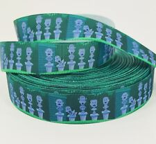 By The Yard 7/8� Disney Haunted Mansion Talking Bust Grosgrain Ribbon Lisa