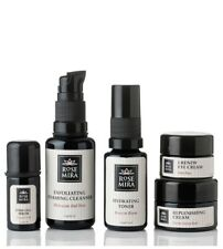 New Rosemira Moroccan Red Rose Travel Kit for Dry/Mature Skin in Violet Glass