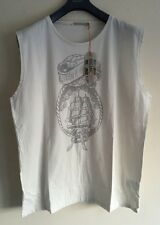 NUDIE JEANS CO CLIPPER OFF WHITE TANK TOP SIZE L RRP £40