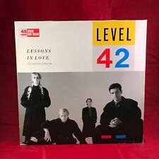 "LEVEL 42 Lessons In Love 1986 German  12"" Vinyl single EXCELLENT CONDITION"