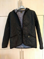 Voi, Hooded, Quilted Jacket, black, Size L (missing a button)