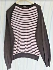 Mens Jumper St George By Duffer Debenhams Size Large Striped 100% Cotton