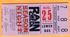 1954 BRAVES ROOKIE HANK AARON TICKET STUB-8/25/54...3 HITS EACH-ASHBURN & HAMNER