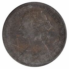 1864 New Brunswick 1 cent Penny - Short 6 - ICCS AU55 - See Photos