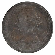 1864 New Brunswick 1 cent Penny - Short 6 - ICCS AU55 - See Photos