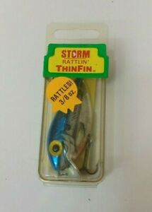Vintage Pre-Rapala Storm Rattlin Thin Fin Crankbait Fishing Lure - RT152