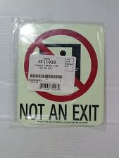 "Lawson/Glo-Brite 6.5""x5.5"" Photoluminescent NOT AN EXIT Sign. Set of 2 (LS018-2)"