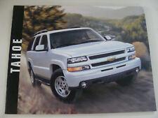 2003 Chevrolet Tahoe Dealers Advertising Sales Brochure Chevy NOS