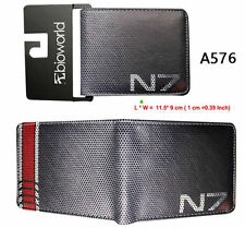 N7 Mass Effect Wallet Andromeda AI Recruit Bi-Fold Wallets Leather Coin Purse