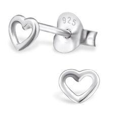 ICYROSE Sterling Silver Tiny Heart Kids Women Stud Earrings 2731