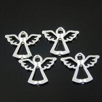 35 Stück Silber Schön Engel Perlen Flügel Metallperlen Spacer 28x22x4mm 38209
