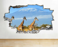 N426 Mountain Africa Kilimanjaro Smashed Wall Decal 3D Art Stickers Vinyl Room