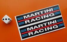 MARTINI RACING Car Stickers 100mm x 25mm Race Brabham porsche lancia