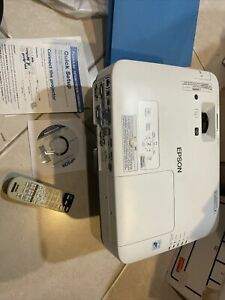 Epson PowerLite 1985WU Wireless Projector With Ceiling Mount Attached And Papers