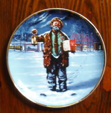 """Emmett Kelly Circus Collection Decorative Plate """"Christmas Carol� from 1986"""