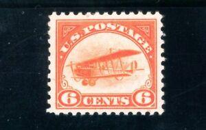 USAstamps Unused VF-XF US 1918 First Airmail Jenny Scott C1 OG MHR