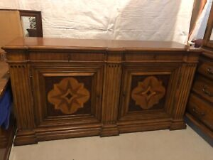 Ethan Allen Marquetry Sideboard. Gorgeous in mint condition.