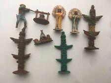Vintage Britains Ltd Indians Figures Accessories Cowboy 60s 70s Totem Pole Chief