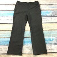 "Coldwater Creek Womens Pants sz 16 Gray Tweed Straight x33"" Career Dress Stretch"