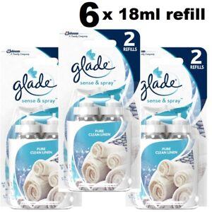 Glade Sense&Spray Air Freshener Twin Pack Refills Linen Cherry Sandalwood Ocean