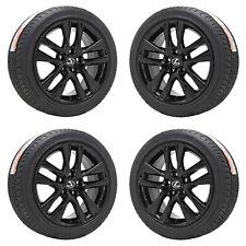 """17"""" Lexus Is Turbo Is300 Gloss Black Wheels Rims Tires Factory Oem Set 74354"""