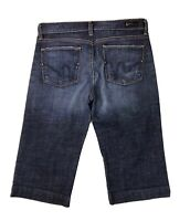 Citizens of Humanity Womens Cropped Jeans Capri Denim Shorts Stretch Blue Sz 27