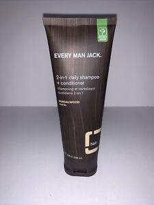 Every Man Jack Sandalwood 2-in-1 Shampoo + Conditioner 8 fl oz 236 mL Liquid New