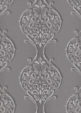 Vlies Tapete Erismann VISIO 6948-15 florale Ornamente Grau Silber Glitzer