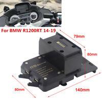 Phone Holder Navigation Bracket USB Charging Mount Stand For BMW R1200RT 2014-19