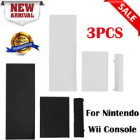 3pcs Memory Card Door Slot Cover Lid Replacement for Nintendo Wii Game Console
