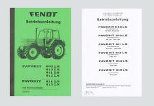 Fendt Favorit 612 LS Betriebsanleitung Schlepper