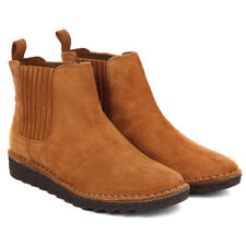 Clarks Ladies Chelsea Ankle Boots OLSO CHELSEA Tan Suede UK 6.5 / 40