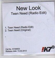 (CX131) New Look, Teen Need - 2012 DJ CD