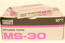MAXELL MS-30 Pro Cassette Tape MS30 - Box of 10-BRAND NEW * SHIPS WORLDWIDE