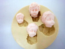 2D BABY FACE, Silicone Mold Chocolate Polymer Clay Jewelry Soap Wax Resin