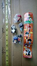Bandai RANMA 1/2 petit strap chain figure gashapon set shampoo Saotome Genma
