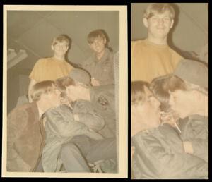 WEED PIPE SHOTGUN SMOKE VIETNAM ARMY MEN GET HIGH as HELL ~ 1970s VINTAGE PHOTO