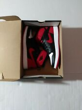 Size 6Y Nike Air Jordan 1 HI FLYEASE GS Black Gym Red Bred CT4897-001