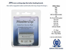 More details for dog clipper blades a5 masterclip german steel f & skip tooth - fit oster & andis