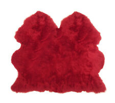 Lambland Super Soft Large Side by Side Red British Genuine Sheepskin Rug