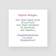 Personalised Handmade Funny Graduation Card - For Him, University, Passed Exams