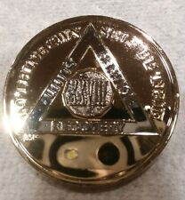 28 YEAR AA GOLD/SILVER Tone Bi-Plated Alcoholics Anonymous CHIP COIN MEDALLION