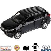 Diecast Metal Model Car Hyundai Creta Black Toy Die-cast Cars