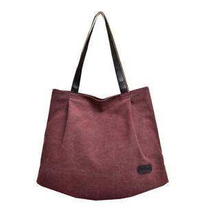 Casual Large Storage Bag Fashion Canvas Handbag One-Shoulder Bag Tote
