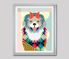 Print Pekingese Art Dog Poster Puppy Animal Lover Pet Gift Wall Decoration 8x10