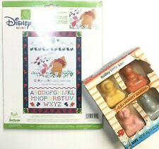 Disney Winnie The Pooh Counted Cross Stitch Kit Blustery Day J&J Pals Soap Lot