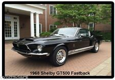 1968 Ford Mustang Shelby GT500 Fastback Auto Refrigerator / Tool Box Magnet