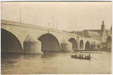 """Offizielle Festkarte zur Neubauweihe der """"Alten Brücke"""" Frankfurt/M. 1926"""
